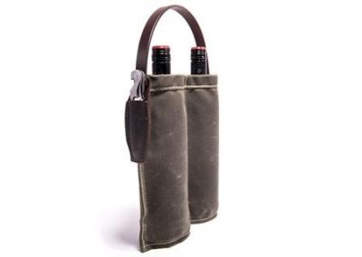 weathered canvas bag